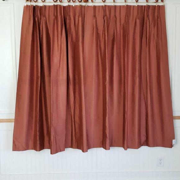 Vtg JC Penney Home Curtains Pinch Pleat 74W x 63L